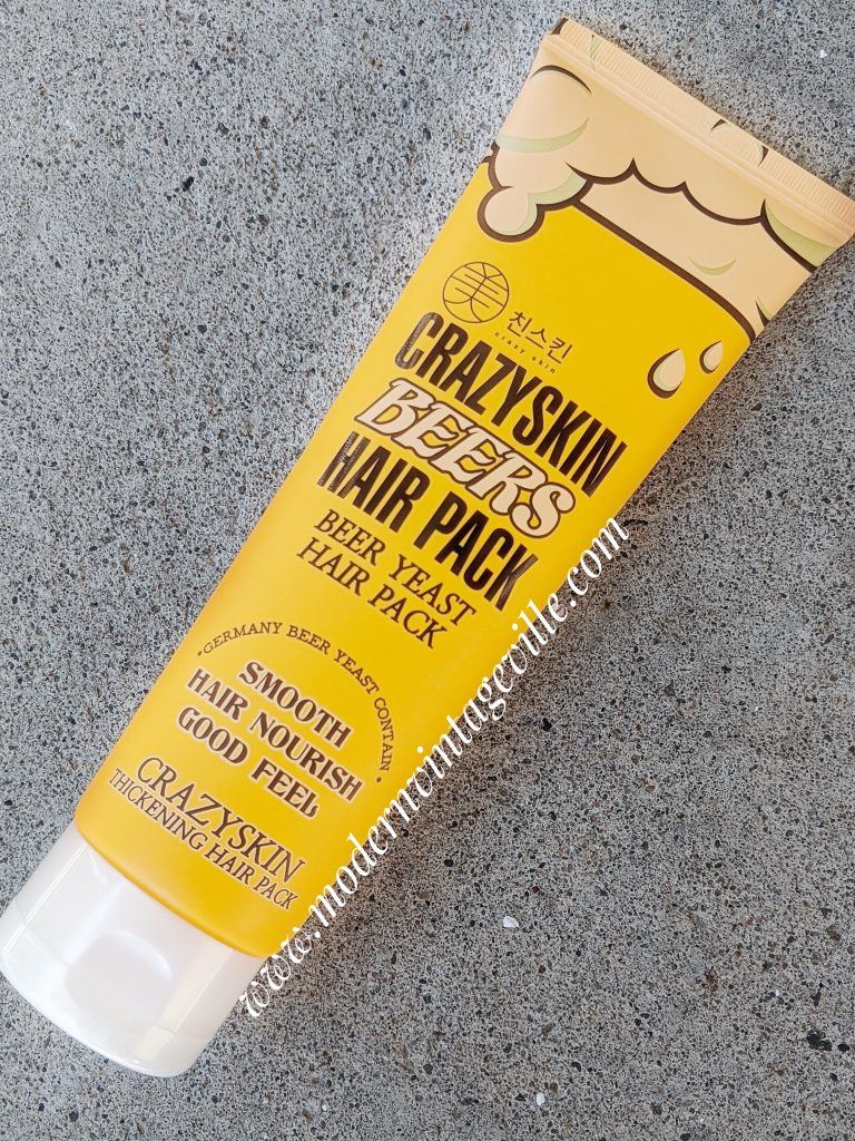 crazyskin beers hair pack containing brewers yeast mask for hair